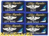 第11飛行隊ブルーインパルスネームタグ(1番機〜6番機)ベルクロオス側付き