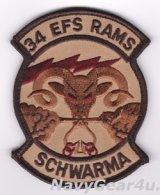 388FW/34EFS RUDE RAMS 部隊パッチ(ベルクロ付き)