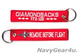 VFA-102 DIAMONDBACKS REMOVE BEFORE FLIGHTキーリング(1個)