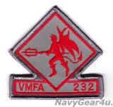 VMFA-232 RED DEVILS部隊パッチ(ベルクロ有無)
