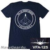VFA-125 ROUGH RAIDERS オフィシャルT-シャツ(ネイビー)