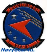 VFA-81 SUNLINERS革製部隊パッチ(レザーパッチ)