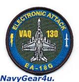 VAQ-130 ZAPPERS EA-18Gショルダーバレットパッチ(ベルクロ有無)