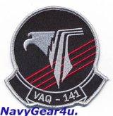 VAQ-141 SHADOWHAWKS部隊パッチ(現行Ver./ベルクロ有無)