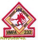 VMFA-232 RED DEVILS 米海兵隊航空100周年記念部隊パッチ(ベルクロ有無)