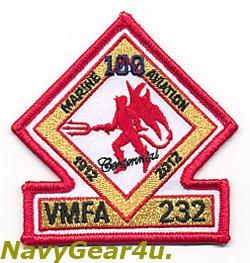 画像1: VMFA-232 RED DEVILS 米海兵隊航空100周年記念部隊パッチ(ベルクロ有無)