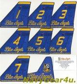 ブルーエンジェルズ2012ツアー記念垂直尾翼パッチ8枚限定セット(認定カード付き/デッドストック)