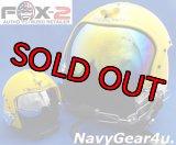 U.S.NAVYブルーエンジェルス公式1/2サイズミニチュア・フライトヘルメット(ゴールドバイザー付き)