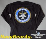 VFA-213 BLACKLIONSロングスリーブT-シャツ(長袖)