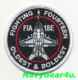 VFA-14 TOPHATTERS F/A-18Eショルダーバレットパッチ(ベルクロ有無)
