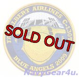 U.S.NAVY BLUE ANGELS 2009 FAT ALBERT AIRLINESツアー限定記念パッチ(デッドストック)