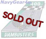 VFA-195 DAMBUSTERS F/A-18E NF400 CAGバード垂直尾翼パッチ(2014-16 Ver.)