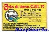 "CVW-17/CVN-70 WESTPAC ""Pacifico""2011-12クルーズ記念パッチ(VFA-113)"