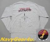 VAQ-133 WIZARDSオフィシャルヒストリーロングスリーブT-シャツ(長袖)