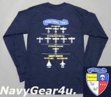 VFA-2 BOUNTY HUNTERS オフィシャルヒストリーロングスリーブT-シャツ(長袖)