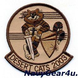 画像1: VF-154 BLACK KNIGHTS DESERT CATS 2003 OIF作戦記念ショルダーパッチ(ベルクロ有無)