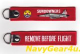 VFC-111 SUN DOWNERS REMOVE BEFORE FLIGHTキーリング(1個)