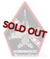 VFA-102 DIAMONDBACKS 部隊創設60周年記念F/A-18Fショルダーパッチ(ベルクロ有無)