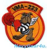 VMA-223 BULLDOGS部隊パッチ(ベルクロ有無)