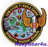 CVW-1/CVN-71ワールドクルーズ/OIR 2015記念パッチ(VAQ-137)