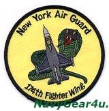 ニューヨークANG 174th FIGHTER WINGショルダーパッチ