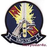VAQ-136 GAUNTLETS部隊パッチ(SHOCKER Ver./ベルクロ有無)