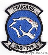VAQ-139 COUGARS部隊パッチ(NEWダブルリボンVer./ベルクロ有無)