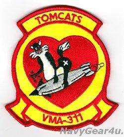 画像1: VMA-311 TOMCATS部隊パッチ(ベルクロ有無)