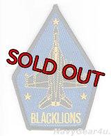 VFA-213 BLACK LIONS F/A-18F ショルダーパッチ(ベルクロ有無)