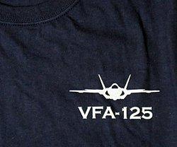 画像4: VFA-125 ROUGH RAIDERS オフィシャルT-シャツ(ネイビー)