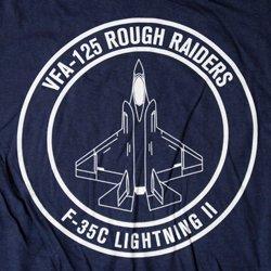 画像2: VFA-125 ROUGH RAIDERS オフィシャルT-シャツ(ネイビー)