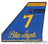 ブルーエンジェルズ2012ツアー記念垂直尾翼パッチ#7(デッドストック)