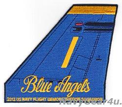 画像1: ブルーエンジェルズ2012ツアー記念垂直尾翼パッチ#1(デッドストック)