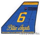 ブルーエンジェルズ2012ツアー記念垂直尾翼パッチ#6(デッドストック)