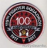 ニュージャージーANG 177FW/119FS JERSEY DEVILS 部隊創設100周年記念パッチ(ベルクロ付き)
