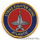STRIKE FIGHTER WING ATLANTIC F/A-18Eショルダーバレットパッチ(ベルクロ有無)