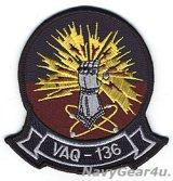 VAQ-136 GAUNTLETS THROWBACK部隊パッチ(ベルクロ有無)