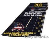 VFA-213 BLACK LIONS LCDR JOHNSON/LT KING追悼記念パッチ2018