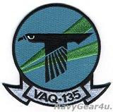 VAQ-135 BLACK RAVENS 部隊パッチ(現行Ver./ベルクロ有無)