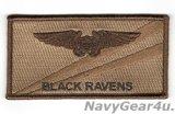 VAQ-135 BLACK RAVENS NFO(EWO)ネームタグ(デザート)