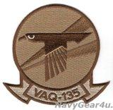 VAQ-135 BLACK RAVES 部隊パッチ(現行デザート/ベルクロ有無)