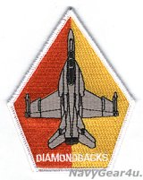 VFA-102 DIAMONDBACKS F/A-18F ベテランクルー用ショルダーパッチ(ベルクロ有無)