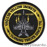 VAQ-138 YELLOW JACKETS EA-18Gショッカー・ショルダーバレットパッチ(ベルクロ有無)