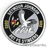 414FG/307FS STINGERS F-15Eストライクイーグル2000飛行時間記念パッチ(ベルクロ付き)