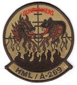 HMLA-269 GUNRUNNERS部隊パッチ(デザート)