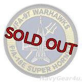 VFA-97 WARHAWKS F/A-18Eショルダーバレットパッチ(バージョン2)