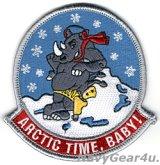 VFA-211 FIGHTING CHECKMATES アラスカ展開記念ARCTIC TIME,BABY!ショルダーマスコットパッチ(ベルクロ有無)