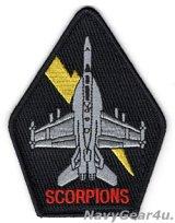 VAQ-132 SCORPIONS EA-18Gショルダーパッチ(Ver.3/ベルクロ有無)