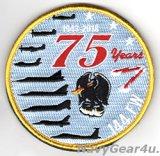 カリフォルニアANG 144 FIGHTER WING創設75周年記念パッチ(ベルクロ付き)
