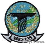 VAQ-135 BLACK RAVENS 2019部隊創設50周年記念部隊パッチ(ベルクロ有無)
